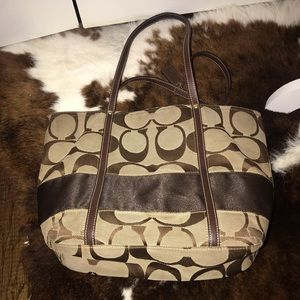 COACH Signature Logo Tote Shoulder bag C0768-11098